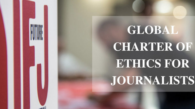 Global Charter of Ethics for Journalists. Foto: Divulgação