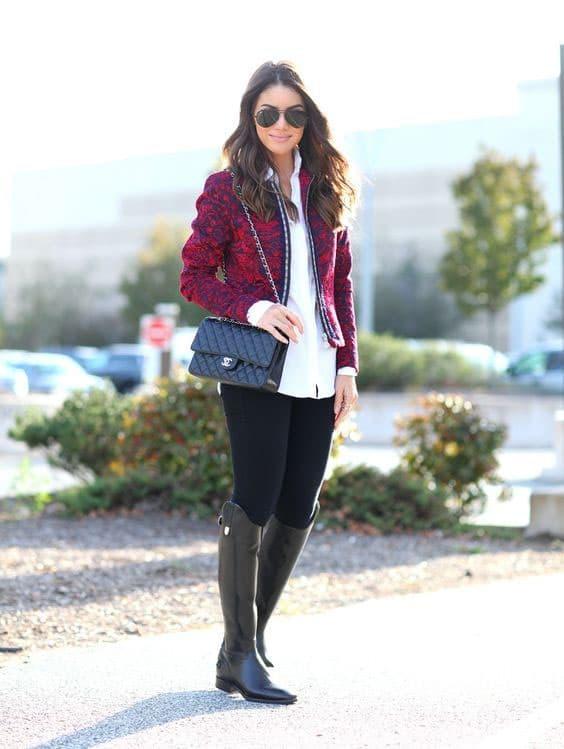 Dicas para usar botas femininas no inverno. Foto: Reprodução/Pinterest