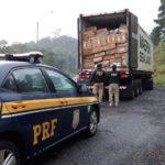 Ilustração - cigarros contrabandeados apreendidos no Paraná. Foto: Divulgação/PRF