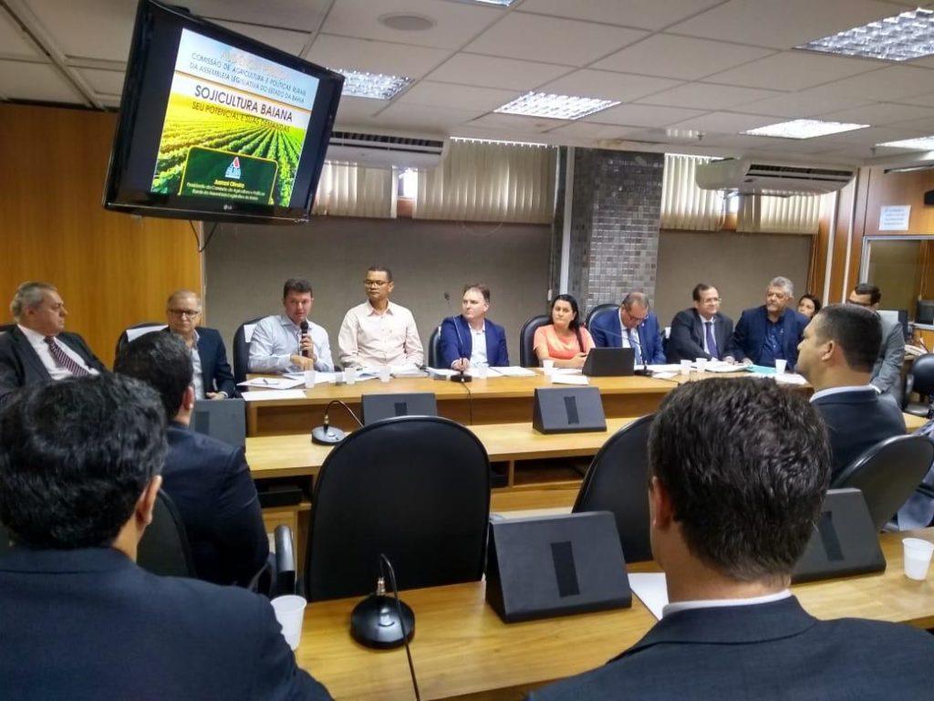 Comissão de Agricultura da Alba discute cultura da soja na Bahia. Foto: Divulgação/Aiba