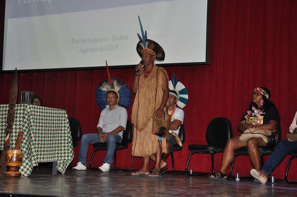 Formação reúne 130 professores indígenas em Porto Seguro. Foto. Uenderson