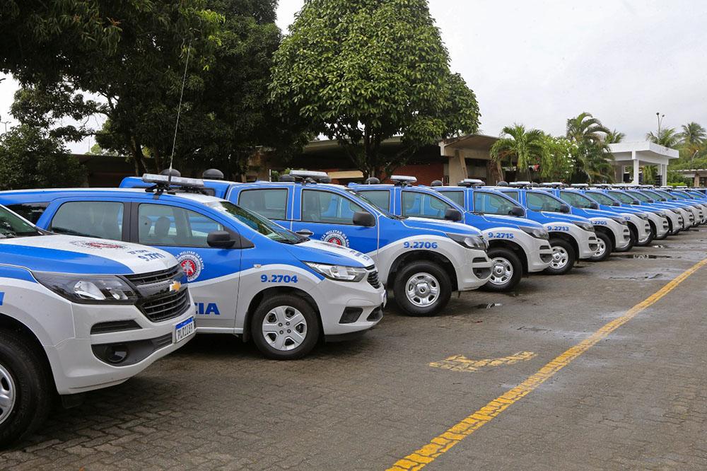 Governo entrega 120 viaturas para municípios do leste baiano e anuncia novos investimentos para segurança. Foto: Camila Souza/GOVBA