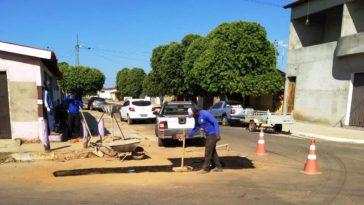 Intervenções sistema de abastecimento em Formosa do Rio Preto. Foto: Divulgação/Embasa