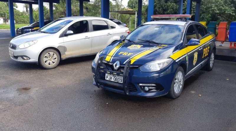 PRF recupera na BR 101 veículo roubado de instituto beneficente. Foto: Divulgação/PRF-BA