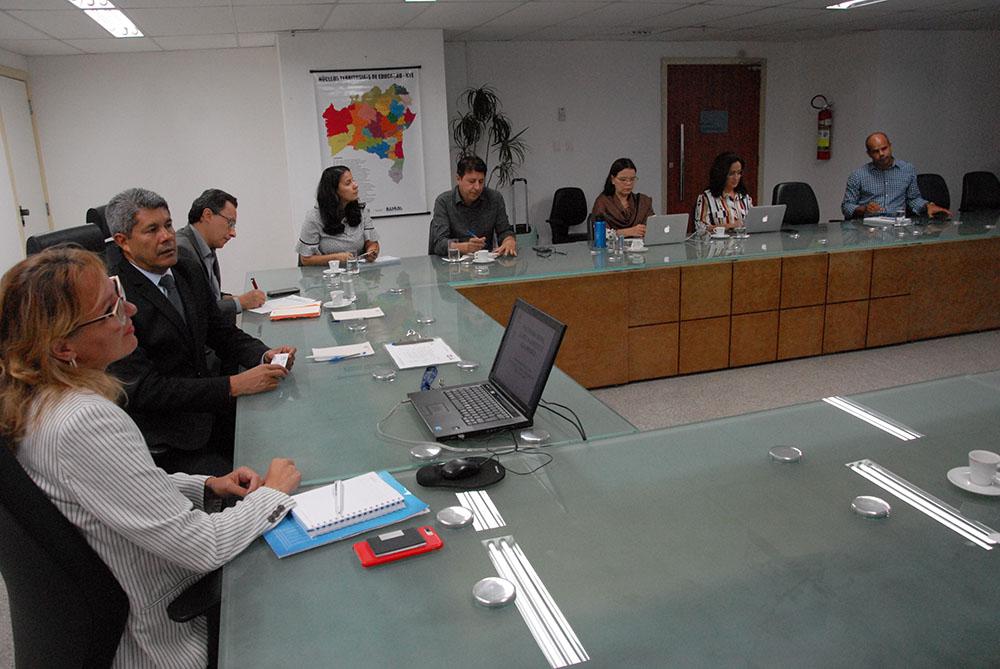 Secretaria da Educação da Bahia discute cooperação técnica internacional com a UNESCO. Foto: Secom