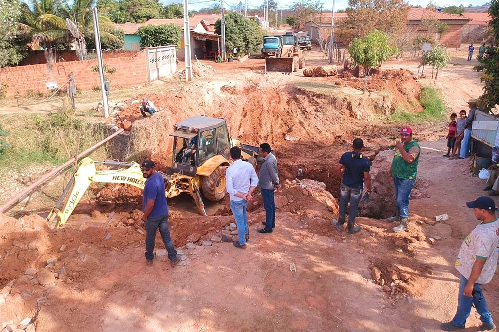 Com recursos próprios, Prefeitura de Correntina inicia construção da ponte do Itamarana. Foto: Ascom – Prefeitura de Correntina – BA