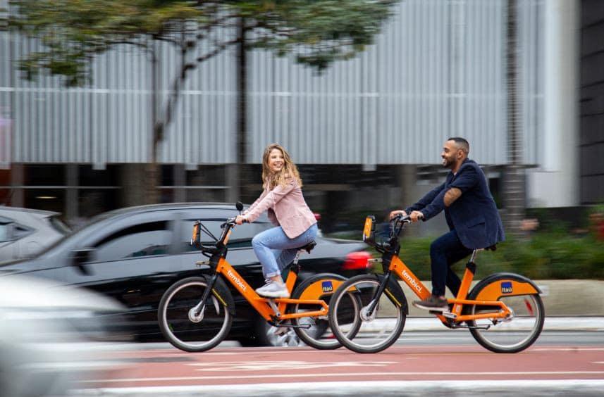 Bike Itaú incentiva a economia de CO2 na semana da mobilidade. Foto: Divulgação
