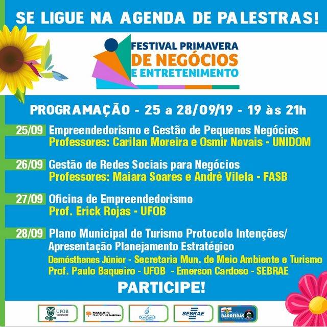 Com estrutura em fase final de montagem, Festival Primavera começa nesta quarta-feira (25). Foto: Divulgação/Prefeitura de Barreiras