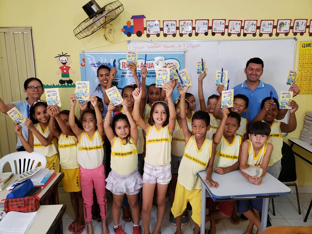 Embasa promove atividade sobre o uso racional de água para crianças de Cotegipe, no Oeste da Bahia. Foto: Divulgação