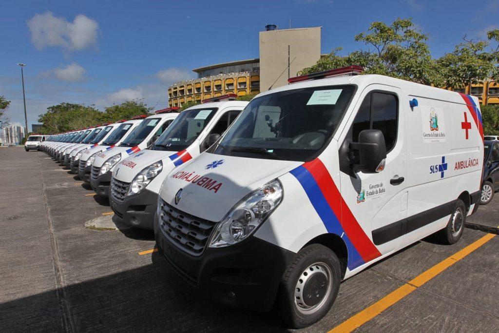 Governador Rui Costa entrega ambulâncias para 19 municípios baianos . Foto: Mateus Pereira/GOVBA