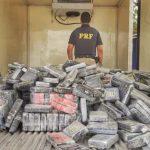 Cocaína apreendida pela PRF em Feira de Santana (BA). Foto: Divulgação/PRF
