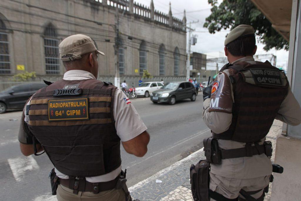 Policiamento é reforçado em Feira de Santana para garantir segurança da população. Foto: Elói Corrêa/GOVBA