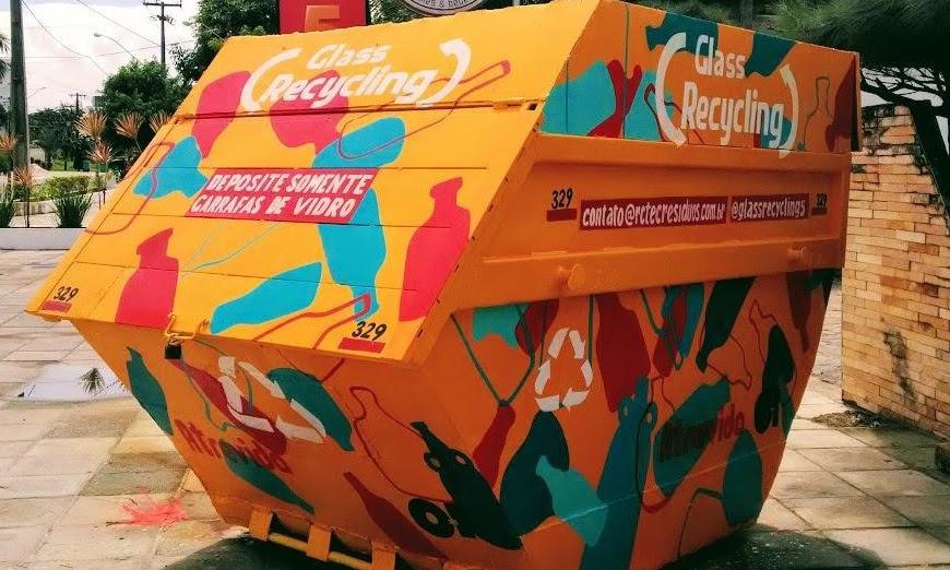 Projeto Glass Recycling amplia a logística reversa e reciclagem de embalagens de vidro em João Pessoa - PB. Foto: Divulgação