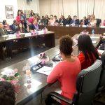 Renata Banhara participa de evento Outubro Rosa na Câmara Municipal de São Paulo. Foto: Renato Cipriano / Divulgação