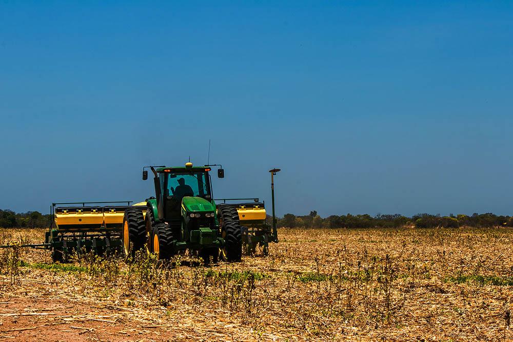 Começa o plantio de soja no oeste da Bahia. Foto: Divulgação