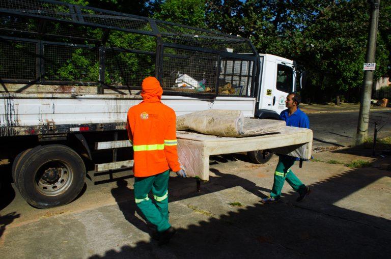 Comurg recolhe 640 objetos durante ação do Cata-treco. Foto: Divulgação