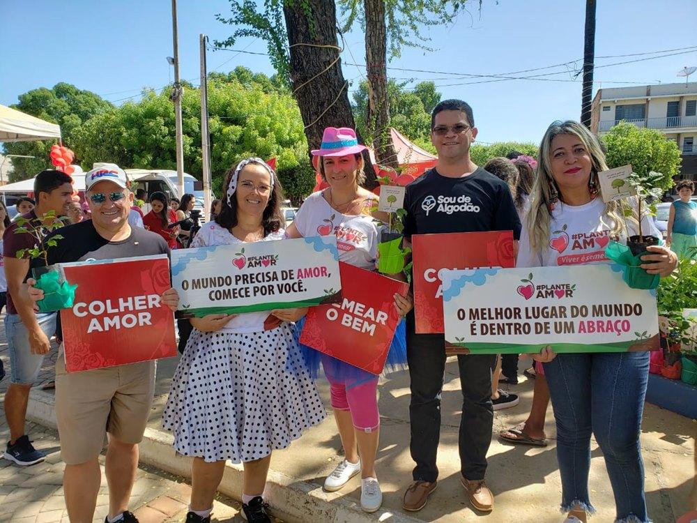 """Abapa doa mudas para evento """"Plante Amor"""" em Barreiras. Foto: Divulgação"""