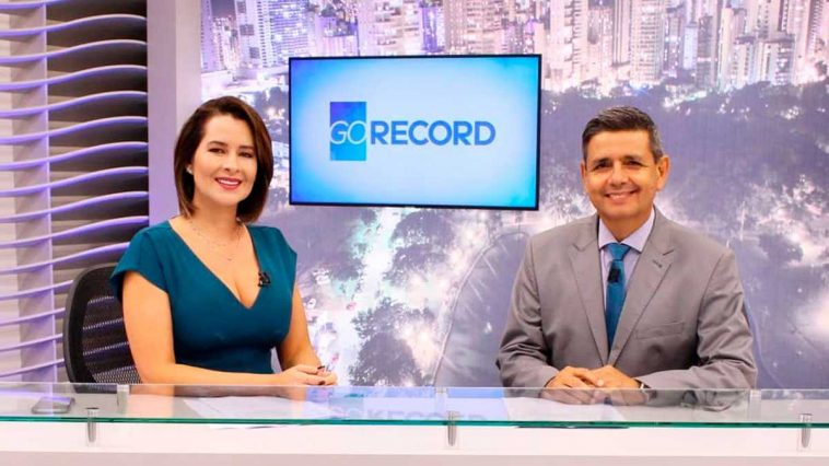 Carlos Magno e Fernanda Arcanjo. Foto: Reprodução/Record TV Goiás