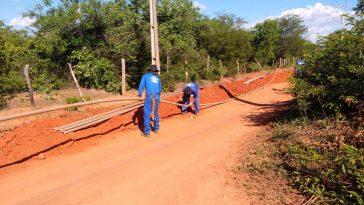 Obra extensão de rede localidade Tabuleirinho, Santana (BA). Foto: Divulgação