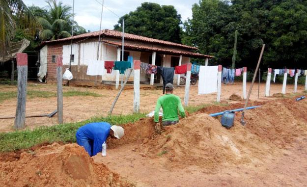 Obra extensão de rede barrocão, Barreiras (BA). Foto: Divulgação