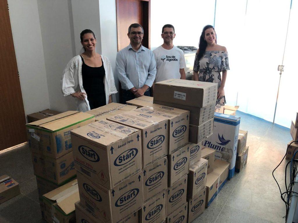 Doação de materiais de saúde para a prefeitura de Barreiras (Foto: Divulgação)