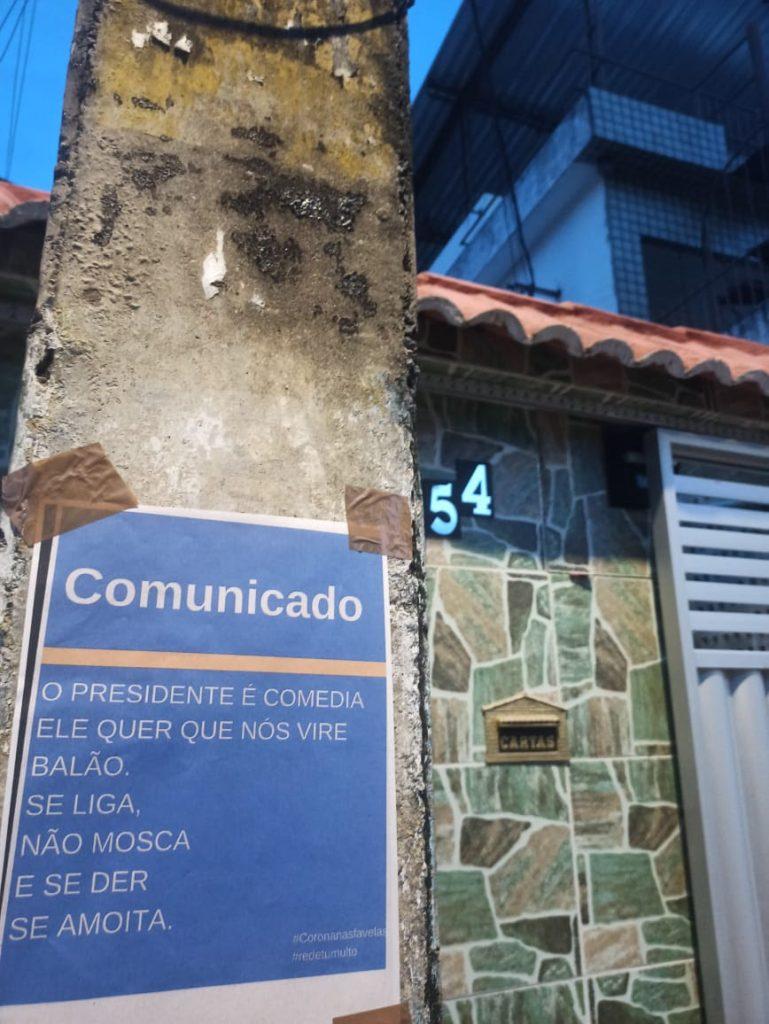 Panfleto na favela do Totó, em Recife (Foto: Arquivo pessoal)