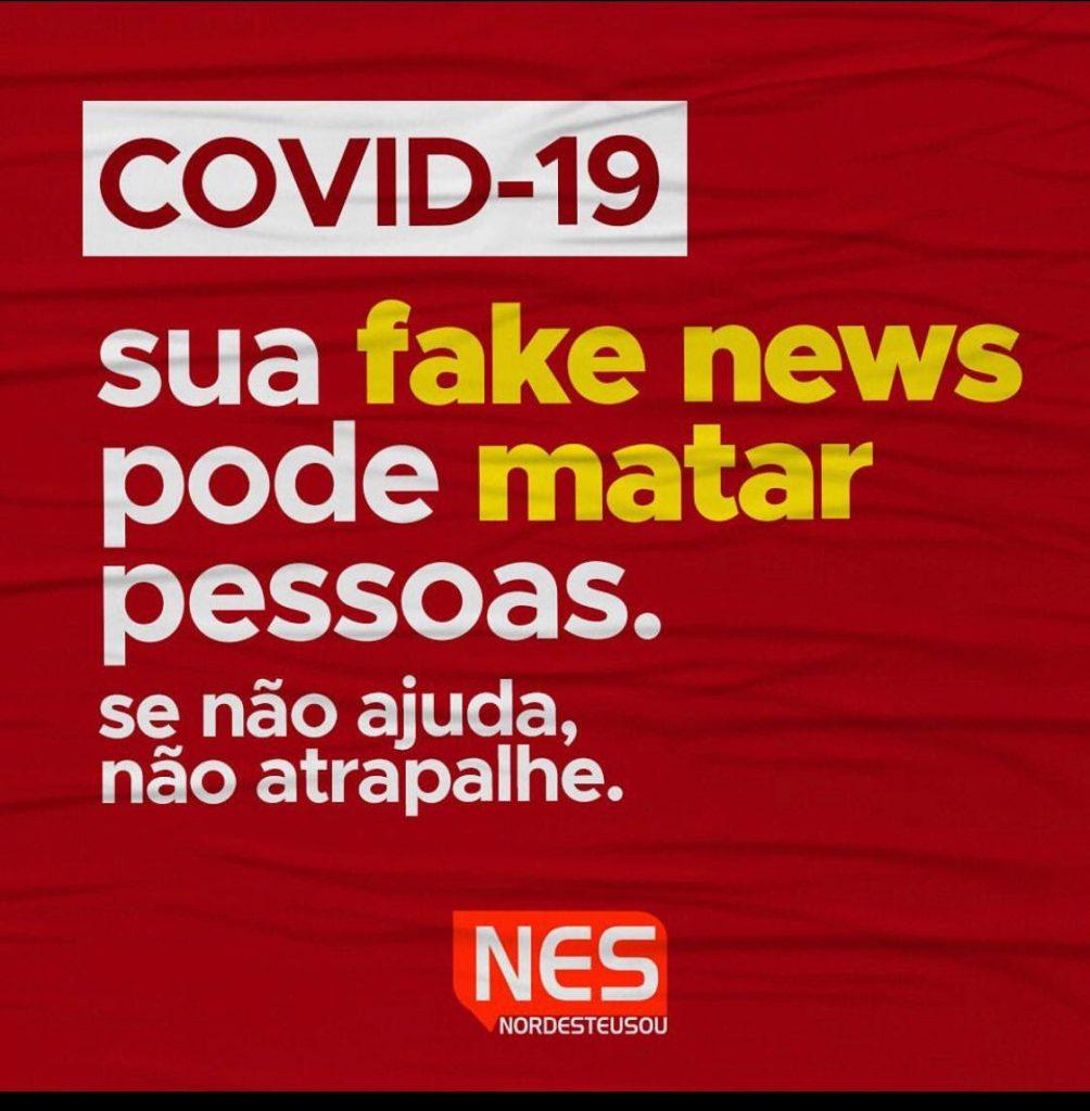 Panfletos entregues aos moradores buscam alertar sobre os riscos do coronavírus (Foto: Reprodução)