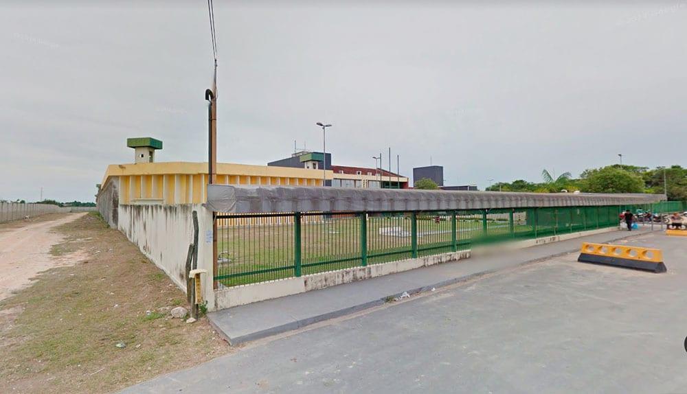Penitenciária de Puraquequara, alvo de denúncias de presos doentes, é a segunda mais populosa do Amazonas (Foto: Google Earth)