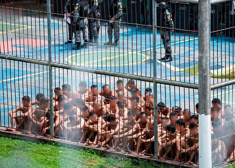 Presos que tiverem Covid-19 e evoluírem para quadros graves precisam ser transferidos e internados em hospitais; sistema de saúde de Manaus está à beira do colapso (Foto: Vitor Souza/Secom)