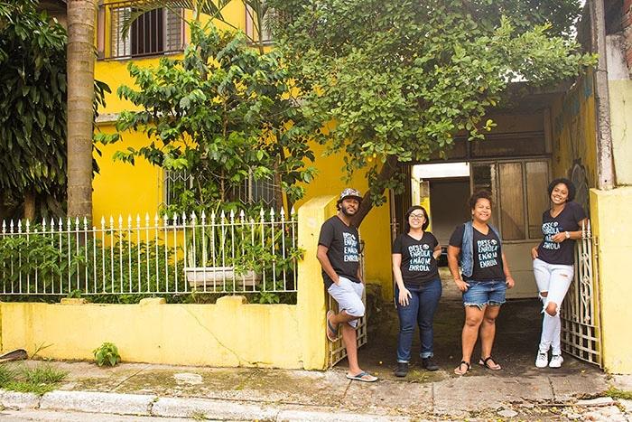 Ronaldo Mattos, Flavinha Lopes, Thais Siqueira e Evelyn Vilhena, integrantes do projeto Desenrola e Não Me Enrola (Foto: Arquivo pessoal)