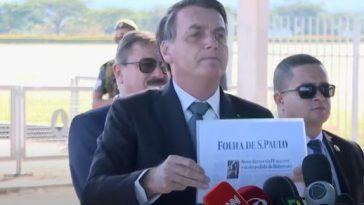 """Bolsonaro manda jornalista """"calar a boca"""" durante coletiva de imprensa (Imagem: Reprodução/Youtube CNN Brasil)"""