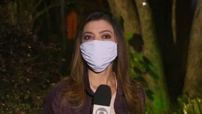 Globo obriga repórteres a usarem máscaras em frente às câmaras (Imagem: Reprodução/Globo)