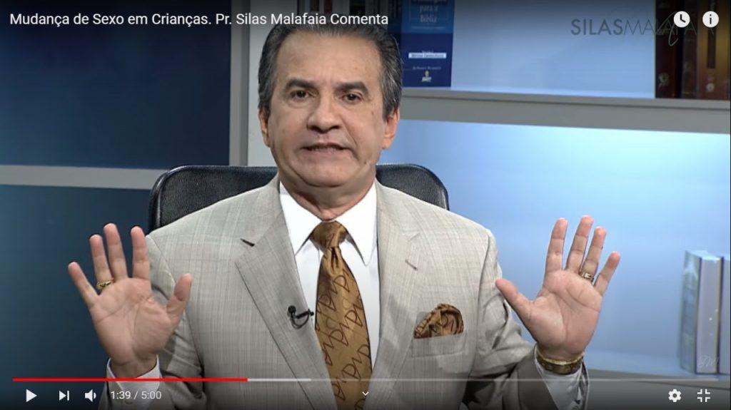 Pastor Silas Malafaia espalha boato que associa pedofilia à esquerda em vídeo de 2016 (Foto: Reprodução/Youtube)