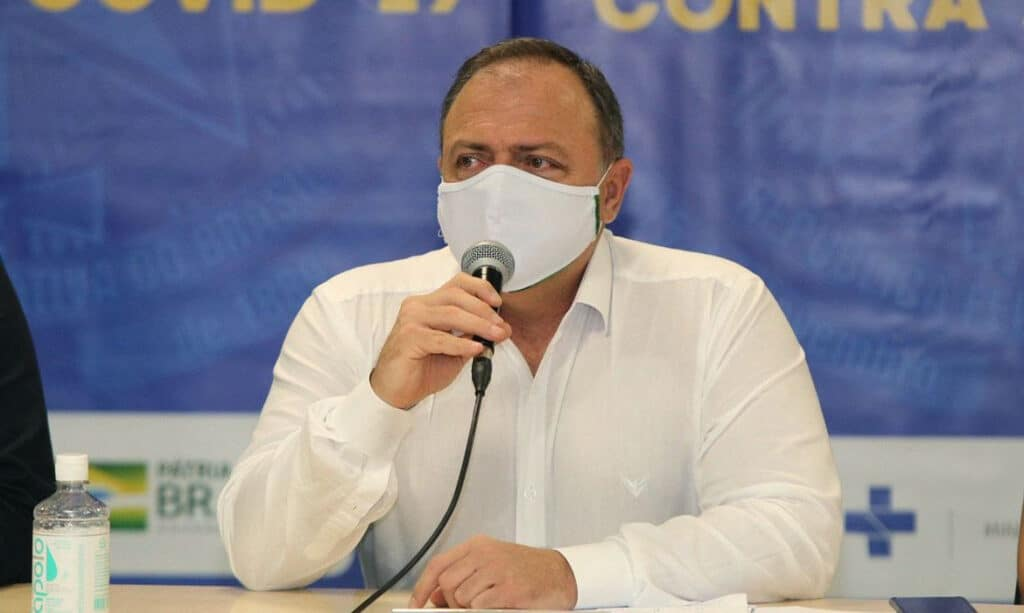 Ministro da Saúde Eduardo Pazuello chegou a Manaus uma semana após visita de diretores prever colapso (Foto: Euzivaldo Queiroz Especial/Ministério da Saúde)
