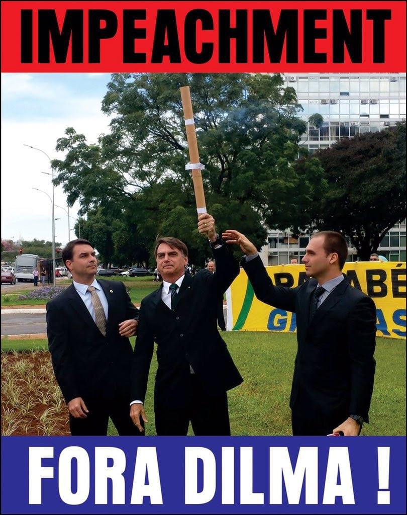 Jair Bolsonaro fez campanha pelo impeachment de Dilma Rousseff (Foto: Reprodução)