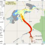 Mapa da região de Jacobina com indicação das barragens B1 e B2